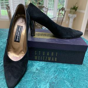 Stuart Weitzman Black Suede Heels